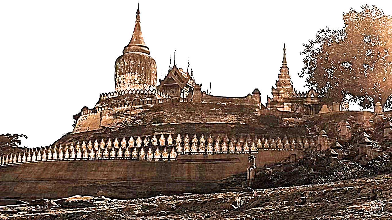 Bupaya complex Myanmar Burma